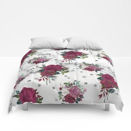 marble and roses Comforters