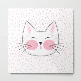 Japanese Kitty Cat Metal Print
