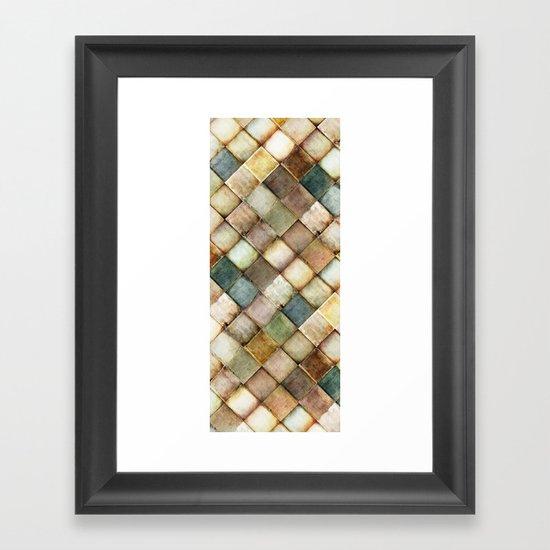 diamond path Framed Art Print