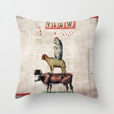 Animal Collection -- Together Throw Pillow