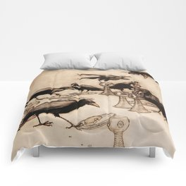 """""""The Seven Ravens"""" by Arthur Rackham From The Grimm Brothers Comforters"""
