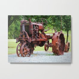 Antique Tractor Metal Print
