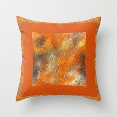 Orange Euphoria 2 Throw Pillow