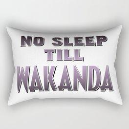 No Sleep Till Wakanda Rectangular Pillow