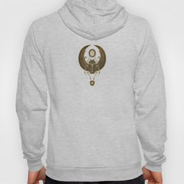 Stone Winged Egyptian Scarab Beetle with Ankh Hoody