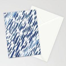 Boho Blue Brushstroke Stationery Cards