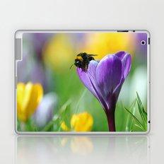 Bumble Bee on Crocus Laptop & iPad Skin