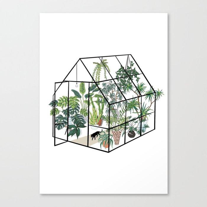 greenhouse with plants Leinwanddruck