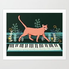 Kitten on the Keys Art Print