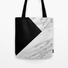 Black Marble Collage Tote Bag