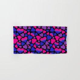 Bi Pride Hearts Hand & Bath Towel