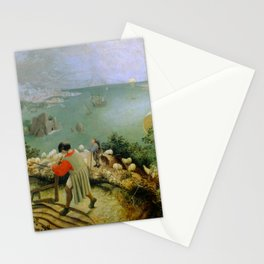 """Pieter Bruegel (also Brueghel or Breughel) the Elder """"Landscape with the Fall of Icarus"""" Stationery Cards"""