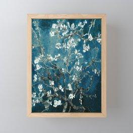 Van Gogh Almond Blossoms : Dark Teal Framed Mini Art Print