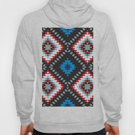 Colorful patchwork mosaic oriental kilim rug with traditional folk geometric ornament. Tribal style Hoody
