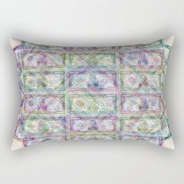 1 Billion Dollars Geometric Tan Rectangular Pillow