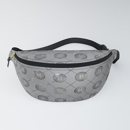 Silver Double Happiness Symbol pattern Fanny Pack