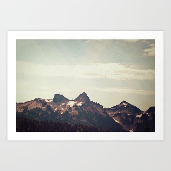Mountain Ridge Morning Art Print