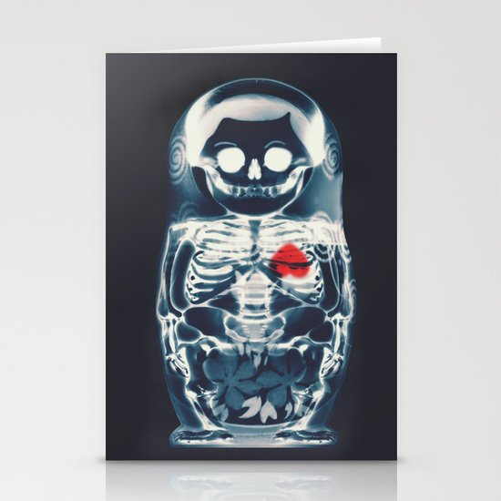 Nesting Doll X-Ray Stationery Cards