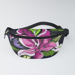 Tropical Floral Pattern Fanny Pack
