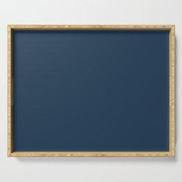 Best Seller Pratt and Lambert 2019 Noir Dark Blue 24-16 Solid Color - Single Shade Hue Serving Tray