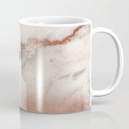 Shiny Copper Metal Foil Gold Ombre Bohemian Marble Coffee Mug
