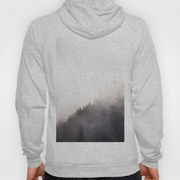 Misty Dark Pine Forest Foggy Landscape Photography Hoody
