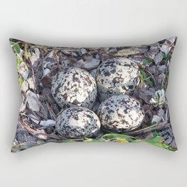 Killdeer eggs in nest Rectangular Pillow