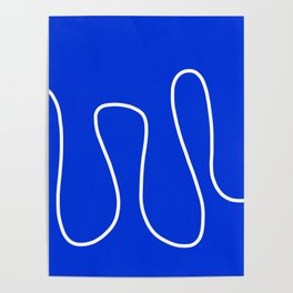 Blue Abstract Wave Poster