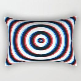 Trippy 3D Circle Rectangular Pillow