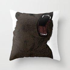 Hear my scream - Bear Throw Pillow
