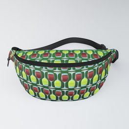 Wine Glasses Of Red And White Fanny Pack