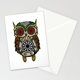 Owl Lover? A Perfect Owls Tee For You Made of Tools Owlet T-shirt Design Nocturnal Night Birdline Stationery Cards
