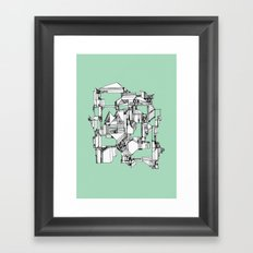 Tea Sandwich City Framed Art Print