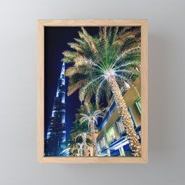 Dubai Night Framed Mini Art Print