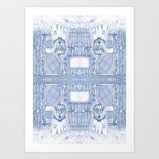 Blue Inhabited Plain Art Print
