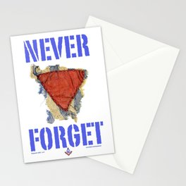 I wear the red triangle with pride... Stationery Cards