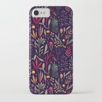 iPhone Cases featuring Botanical pattern by Oilikki