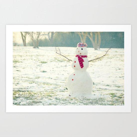 But, Snowmen Can't Talk Art Print