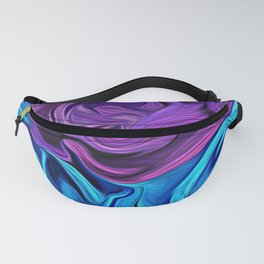 Turquoise and Violet Rose Fanny Pack