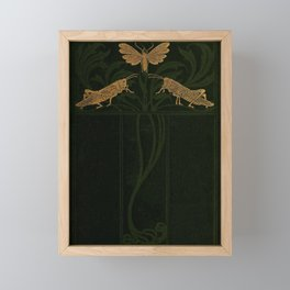 Art Nouveau Insects Framed Mini Art Print
