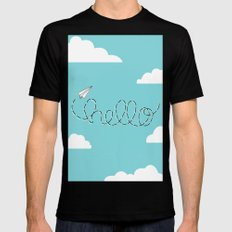 Passing Notes MEDIUM Black Mens Fitted Tee