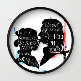 reylo - sabres Wall Clock
