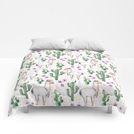 Llama Llamarama + Cactus Comforters