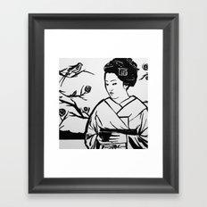 Geisha Girl Framed Art Print