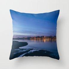 Porto across the river. Throw Pillow