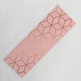 Pink and Gold Geometry 011 Yoga Mat