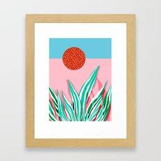 Freakin' - memphis throwback style palm springs neon art print 1980s vintage desert road trippin Framed Art Print