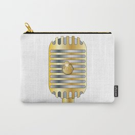 Golden Microphone Carry-All Pouch
