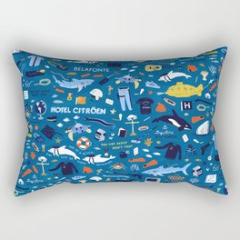 Life Aquatic Plot Pattern Rectangular Pillow