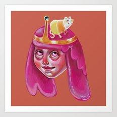 Bubblegum Loves Science Art Print
